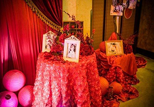 "Aimeart Wedding Accessories 3D Rose Aisle Carpet Runner Tablecloth 51"" Wide, Dark Purple"