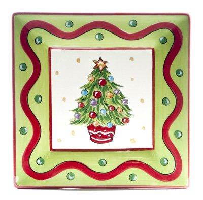 "Gail Pittman Christmas Bright 8"" Tree Plate -  Gail Pittman Designs"