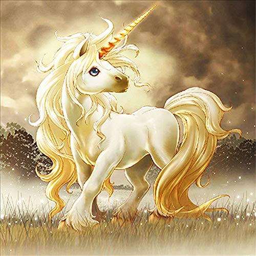Cute Unicorn 5D Diamond Painting Kits Full Drill Diamond Gem Art Kits for Adults Crystal Rhinestone Embroidery Painting for Beginner Gift