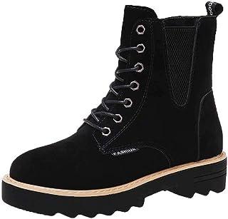 ZOSYNS Dames veterlaarzen winter laarzen korte laarzen mode casual comfortabele antislip ademende binnenvoering winterlaar...