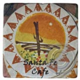 Santa Fe Cafe,Hilton Head Island Marble Coaster