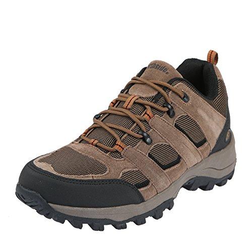 Northside Men's Monroe Low Hiking Shoe,Brown,10 M US