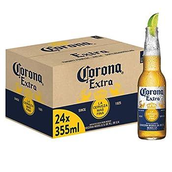 Confezione da 24 bottiglie da 35.5 cl di Corona, birra Lager 4.5% alcool Corona è una birra Pale lager messicana, prodotta a partire dal 1925 È più leggera delle birre tradizionali, con un gusto fine e rinfrescante Per una buona esperienza va gustata...