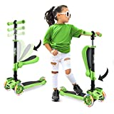 Hurtle 3-Wheeled Scooter for Kids, Green