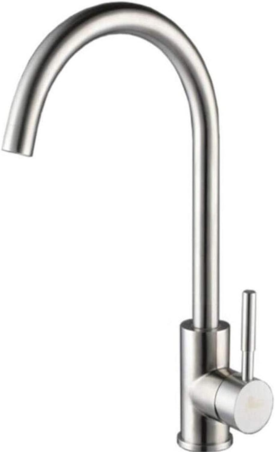 Taps Kitchen Sinktaps Mixer Swivel Faucet Sink Lead-Free 304 Stainless Steel Kitchen Tap Wire Drawing