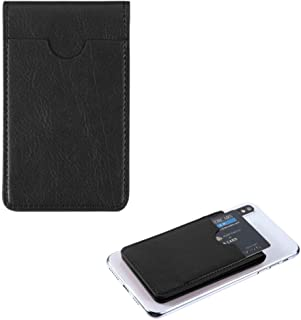Pocket+Stylus, Fits Universal Apple ZTE LG MYBAT Black Leather Adhesive Card Pouch/Stand. Soft Spandex Sleeve Secure Walle...