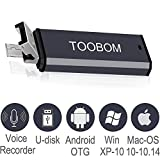 Mini USB Voice Recorder for Lectures,TOOBOM USB and Micro USB 2 in 1 Digital...