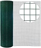Yikai 40 Inches x 82 Feet 19-Gauge Green PVC Iron Welded Wire Garden Fence with 0.65 Inches Openings