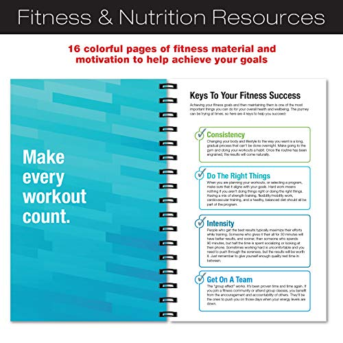 Product Image 4: Workout Fitness Journal Nutrition Planners: Clip-in Bookmark, Sturdy Binding, Thick Pages & Laminated Protective Cover (Brown)