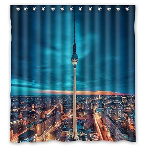 Dream Außerhalb Einzigartige Berlin City Duschvorhang, Custom bedruckt Wasserdicht Badewanne Vorhang 152,4cm (W) X 182,9cm (H)