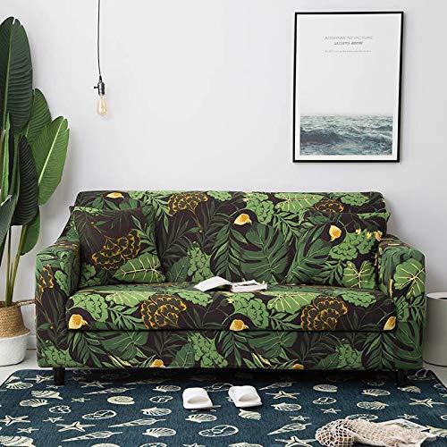 Funda de sofá elástica Fundas de sofá de algodón Fundas Ajustadas para sofá con Todo Incluido Fundas de sofá para Sala de Estar Mascotas Funda de sofá A15 3 plazas