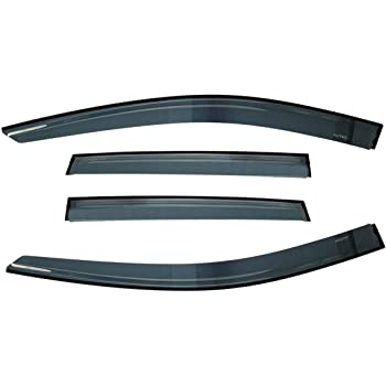 Replacement for Ford Excursion 4pcs Tape-On Window Visor Deflector Rain Guard