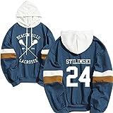 Hoodie Men Stilinski 24 Lahey McCall Pullover Sweatshirt Male Print Hooded Mens Hoodies Hip Hop Hoddies Streetwear Teen Wolf (Blue1,L)