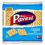 Gran Pavesi - non salati - Cracker ohne Salz - 18er Pack, Gesamt 560g -