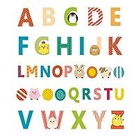 NUSSKACKA アルファベット ウォールステッカー 子供部屋デコ DIY シール式 ウォールアート かわいい