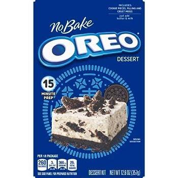 Jell-O No-Bake Oreo Dessert 12.6-Ounce Box  Pack of 4