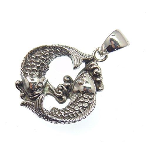 Silber Anhänger Glücksfische, Koi, Symbol für Reichtum und Glück,Versand innerhalb 24 Stunden !!!