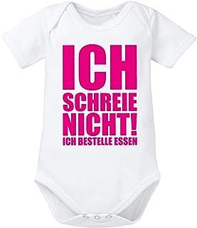 clothinx Baby-Body Bio Sprüche Ich Schreie Nicht, ich bestelle Essen