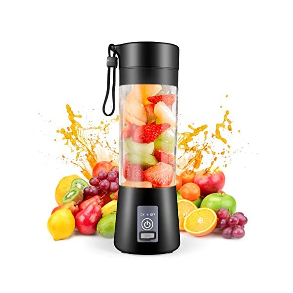 Portable Blender,Personal Blender, Smoothies Mini Jucier Cup USB Rechargeable and...