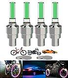 Yinch 4 Stück LED Ventilkappen Fahrrad Reifen...