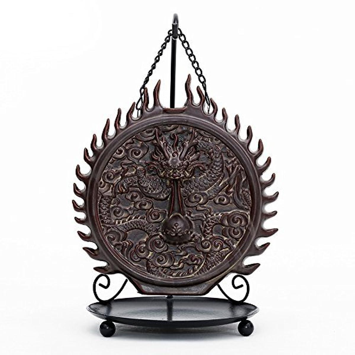 どこ瞑想的宝倒流香 香炉 お香ホルダー 流川香 香炉用品 セラミック 置物 陶芸 開運 風水 ハンギングドラゴン
