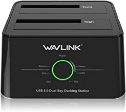 WAVLINK USB 3.0 to SATA I/II/III Dual-Bay External Hard Drive Docking Station for 2.5/3.5..