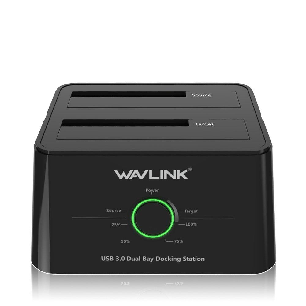 WAVLINK Dual Bay Docking Station Functions