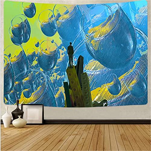 YYRAIN Impresión Azul Regalo Tapiz Hogar Pared Fondo Tela Sala De Estar Dormitorio Pinturas Ropa De Cama 95cm x 73cm{Width×Height} C