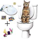 Ducomi Bobo - Training Kit für Ausbildung Katzen – Bring Die Katze zu verwenden die Toilette - Alternative zu den Wurfkatzen - WC Cat - Trainingssystem zur Verwendung (Trainingssatz + Spiel)
