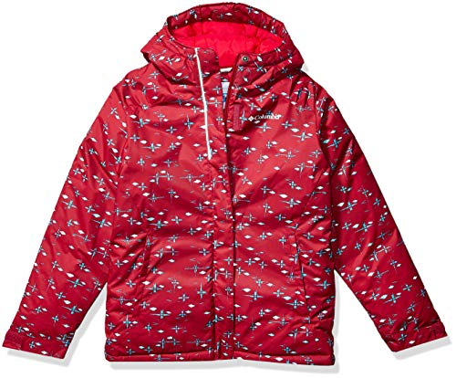 Columbia Girls' Toddler Horizon Ride Jacket, Pomegranate Star Follies, 4T