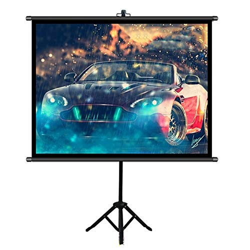 Yuehjnba Projection Screen Projector Screen with Stand - 4:3 HD Indoor and Outdoor Projection Screen for Movie Presentation Best Outdoor Movie Screen (Color : Black, Size : 50inch)