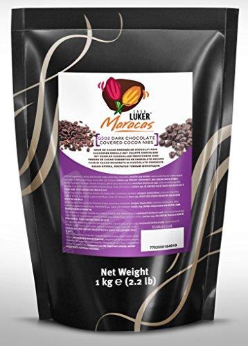 CasaLuker - Granella / Pezzetti di Fave di Cacao Tostate Ricoperte di Cioccolato Fondente (cocoa nibs) 1kg