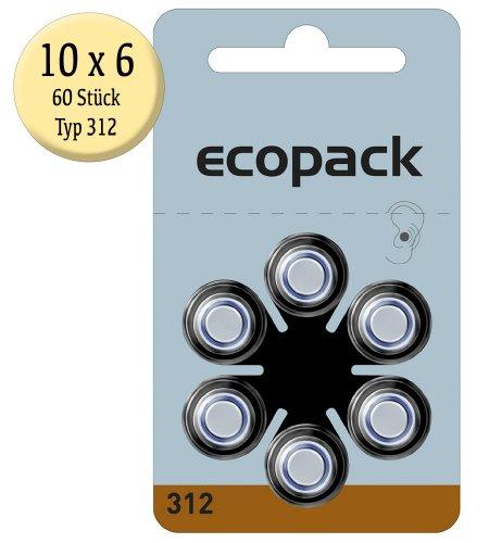 Varta ecopack Battrie (Typ 312, 6er-Blister)