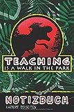 Notizbuch: Walk in a Park I DIN A5 Notebook kariert I Geschenk für Lehrer und Lehrerinnen  I Teacher Tagebuch/Journal für die eigenen Notizenr I Sprungwurf Notizheft