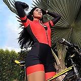Frauen Radfahren Jersey Triathlon Jumpsuit Langarm Fahrrad Reiten Jersey Sets Mtb Haftanzug mit GEL Pad-Rad-Sets. (Color : 4, Size : XXXX-Large)