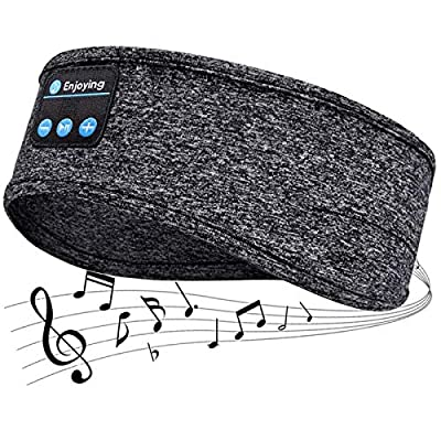 Sleep Headphones, Headband Wireless V5.0 Bluetooth Headphones, Eye mask Headphones, Built-in ultra-thin HD stereo speakers, Suitable for Side sleep/Sports/Yoga/Fitness/Relaxation by Jaok