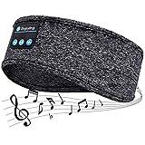 Ecouteur Sommeil,Casque sans Fil Bluetooth V5.0 Headband,Haut-parleurs stéréo HD Ultra-Minces intégrés,Convient pour Dormir sur Le côté/Sport/Yoga/Fitness/détente