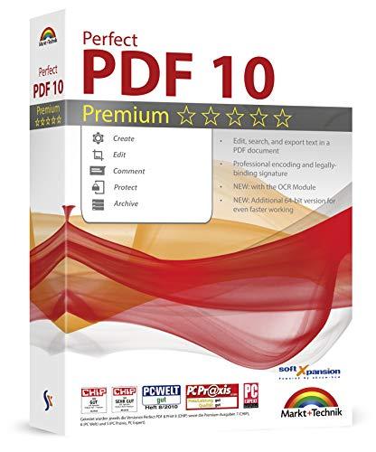 Perfect PDF 9 Premium Edition - mit OCR Modul - PDFs erstellen, bearbeiten, umwandeln, konvertieren, schützen, Kommentare hinzufügen, Digitale Signatur einfügen | 100% Kompatibel mit Adobe Acrobat