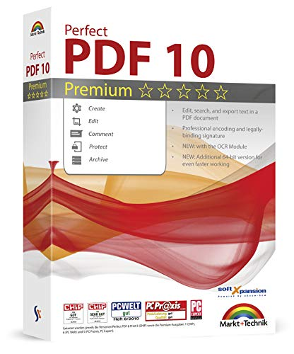 Perfect PDF 10 Premium - Powerful PDF Editing Software - 100% Compatible with Adobe Acrobat - Create, Edit, Convert, Protect, Add Comments, Insert Digital Signatures, OCR Recognition