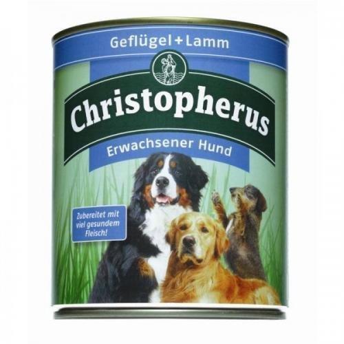 6 x Allco Christopherus Geflügel & Lamm 800 g, Hundefutter, Nassfutter