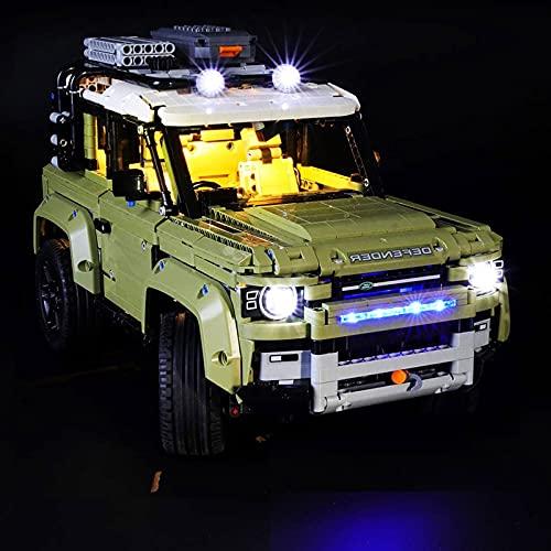 Kit luci a led per Lego 42110, set luci compatibile con (Land Rover Defender) Modello di blocchi, stile classico/telecomando (NON incluso il modello) (stile classico)