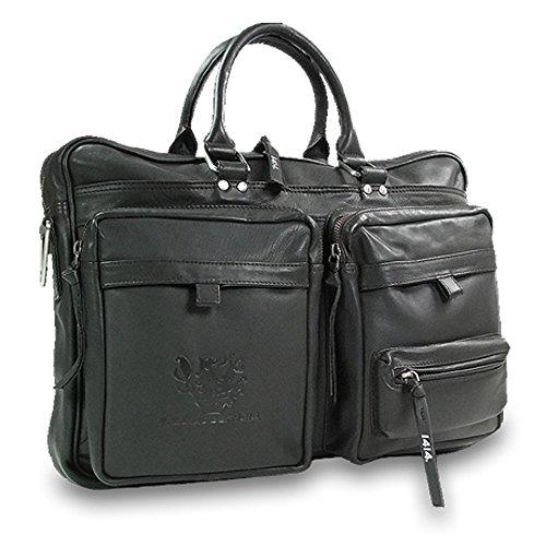 Feldmoser 1414 Echtleder Aktentasche Laptop-Tasche Business-Tasche Ledertasche Umhängetasche Notebooktasche für Damen & Herren (Braun)