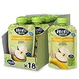 Hero Baby - Bolsita de Fruta con Manzana y Plátano, Sin Azúcares Añadidos, para Bebés a Partir de los 4 Meses - Pack de 18 x 100 g