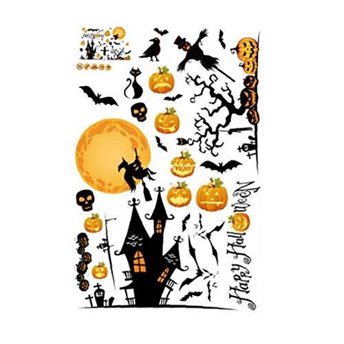 Iaywayii Los Murciélagos De Halloween Tapetes De Arte Bricolaje Etiquetas De La Pared De Halloween Castillo Vinilo Decorativo Decoración De La Pared para Sala De Estar Oficina Dormitorio Kinder