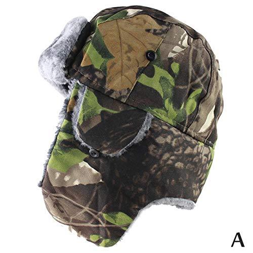 AdronQ Wintermütze warme Gehörschutz Bombermütze Männer und Frauen russische warme Catcher Hut Kavallerie Gehörschutz Ski Taktische Kappe Tarnung