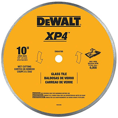 DEWALT DWA4769 Continuous Rim Glass Tile Blade, 10