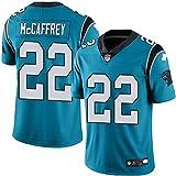 LYLSH Camiseta de Rugby Jersey NFL Football Panthers 22# McCAFFREY Camiseta de Hombre Ropa Deportiva para Adultos y niños (Azul,S)