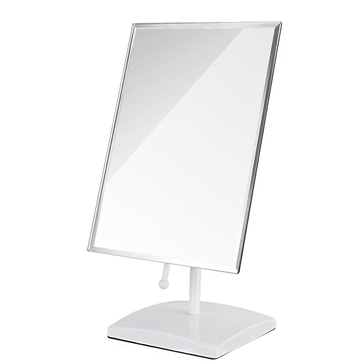 宝バーゲンスパークYBJPshop 化粧鏡 多角度の回転虚栄心ミラー、浴室のための自由で永続的な虚栄心の化粧鏡 - 正方形 美容鏡化粧室バスルーム (Color : White)