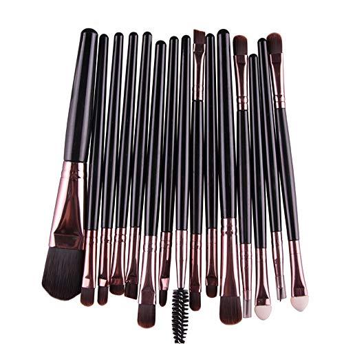 XXY Kit de maquillage pour outils de maquillage Pro Makeup Poudre de fard à paupières Ombre à paupières Pinceau à lèvre en poils souples en fibre (15 pcs) (Color : 7, Size : Onesize)