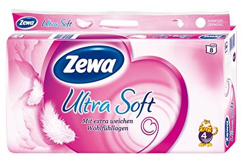Zewa Ultra Soft 8 x 150 Blatt 4 lagig, 1er Pack (1 x 8 Stück)